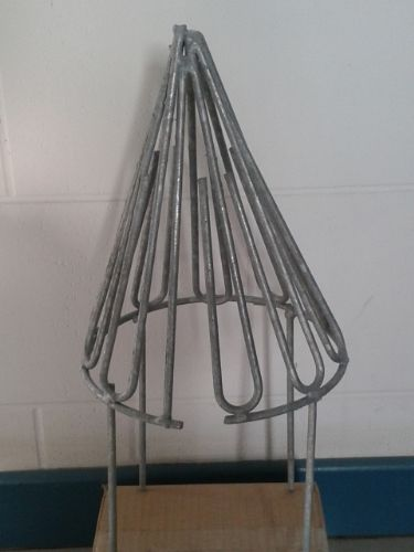 WIRE CAGE BIRD GUARD CONICAL GALVANISED 8in